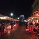 Январское уличное кафе
